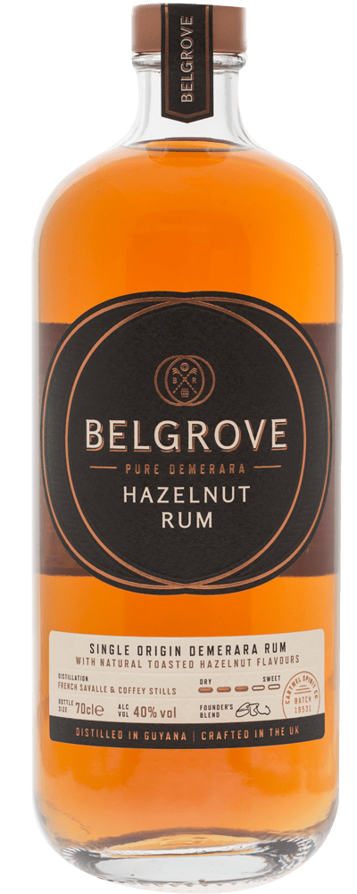 Large 70cl bottle of Belgrove Rum