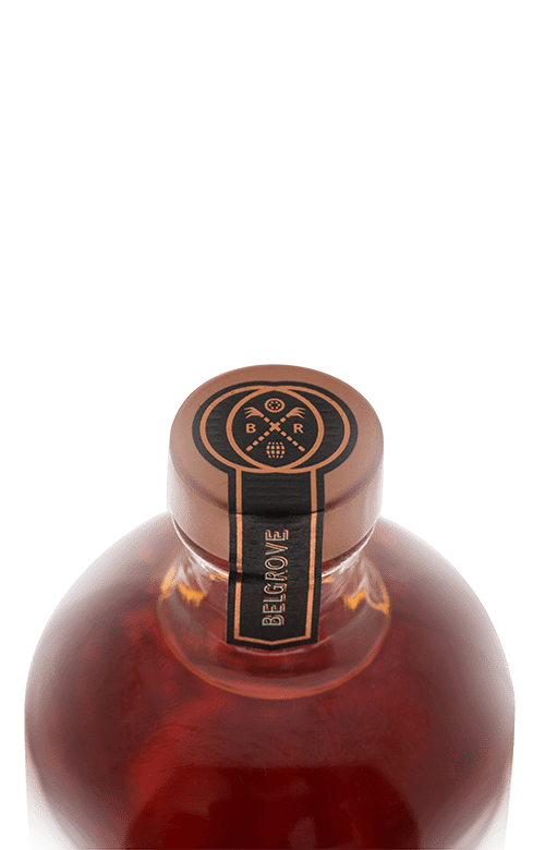 A bottle of Belgrove Hazelnut Rum